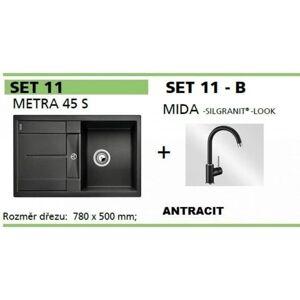 SET dřezu a baterie Blanco Metra 45 S + MIDA antracit