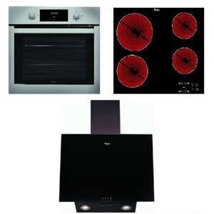 Set spotřebičů Whirlpool trouba AKP742IX + sklokeramická deska AKT8090NE + komínková digestoř 60cm AKR037GBL