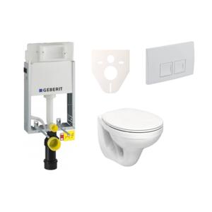Závěsný set WC Kolo Idol + modul Geberit Kombifix s tlačítkem Delta 50 (bílá) SIKOGE1K4