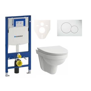 Závěsný set WC Laufen Pro Nordic + modul Geberit Duofix s tlačítkem Sigma 01 (bílá) SIKOGES3H1