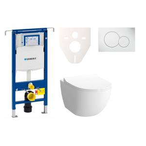 Závěsný set WC Shift rim-ex, nádržka Geberit Duofix, tlačítko Sigma 01 bílé SIKOGES4N1