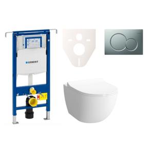 Závěsný set WC Shift rim-ex, nádržka Geberit Duofix, tlačítko Sigma 01 chrom mat SIKOGES4N3