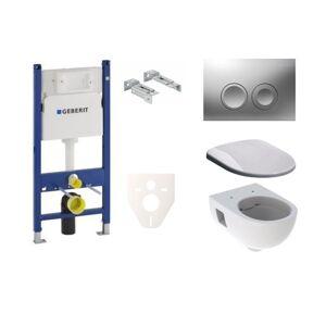 Závěsný set WC Geberit Selnova, nádržka Geberit Duofix, tlačítko CR mat SIKOGES7S3