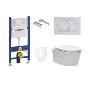 Závěsný wc set do lehkých stěn / předstěnová Swiss Aqua Technologies Brevis SIKOGES7W7S