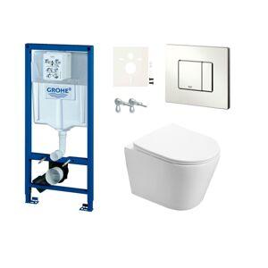 Závěsný wc set do lehkých stěn / předstěnová Swiss Aqua Technologies Infinitio SIKOGRSIN2S