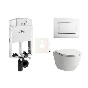 Závěsný set WC Laufen, nádržka JIKA, tlačítko bílá SIKOJL1