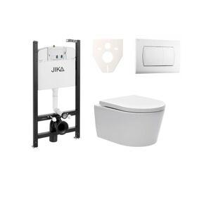 Závěsný set WC SAT Brevis, nádržka JIKA, tlačítko bílé SIKOJSW1