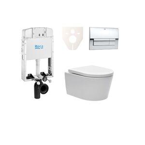 Závěsný set WC Swiss Aqua Technologies Brevis, nádržka ROCA, tlačítko CR lesk SIKORSW5
