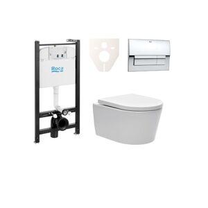 Závěsný set WC Swiss Aqua Technologies Brevis, nádržka ROCA, tlačítko CR lesk SIKORW5