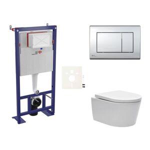 Závěsný wc set do lehkých stěn / předstěnová Swiss Aqua Technologies Brevis SIKOSSBR21