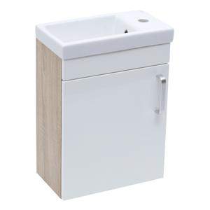 Koupelnová skříňka s umyvadlem Naturel Vario Dekor 40x50x22 cm bílá lesk VARIO240DBBL