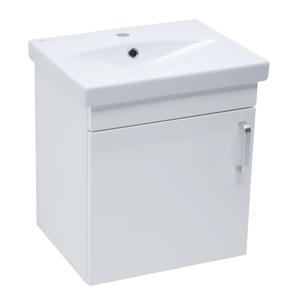 Koupelnová skříňka s umyvadlem Naturel Vario Dekor 50x51x40 cm bílá lesk VARIO250BIBL