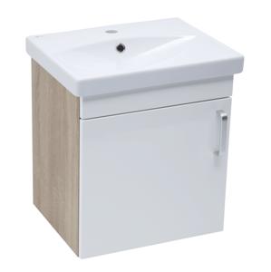 Koupelnová skříňka s umyvadlem Naturel Vario Dekor 50x51x40 cm bílá lesk VARIO250DBBL