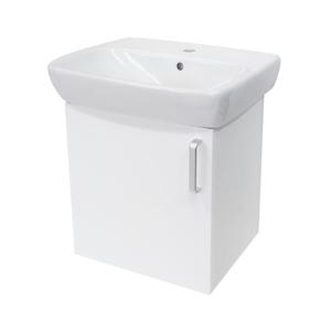 Koupelnová skříňka s umyvadlem Naturel Vario Dekor 50x42 cm bílá VARIO50BIBL