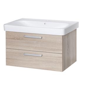 Koupelnová skříňka s umyvadlem Naturel Vario Dekor 90x48 cm dub bardolino VARIO90ZDBDB