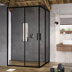 Sprchové dveře 100x190 cm Ravak Blix Slim černý lesklý X1XMA0300Z1