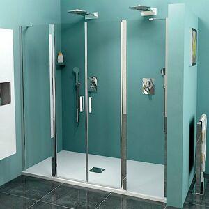 Sprchové dveře 160x190 cm Polysan Zoom chrom lesklý ZL1416